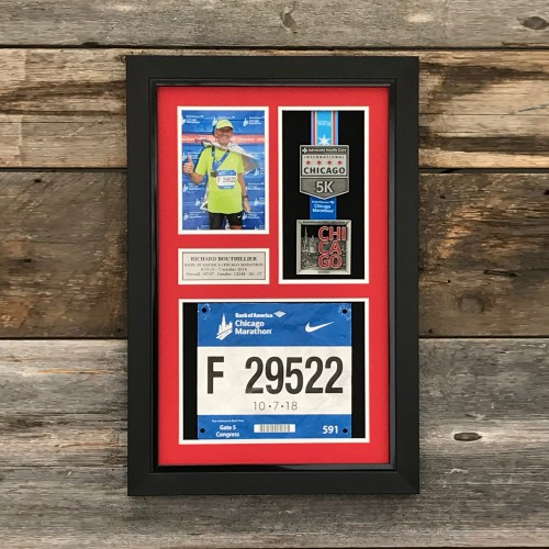 Medal, Photo & Bib Frame