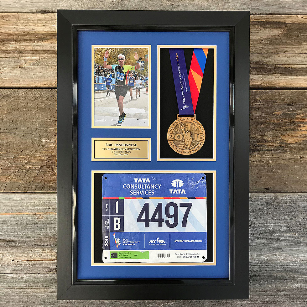 New York Marathon Medal Photo Amp Bib Frame Runner S Wall