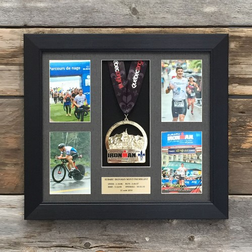 Triathlon 4 pictures and medal frame